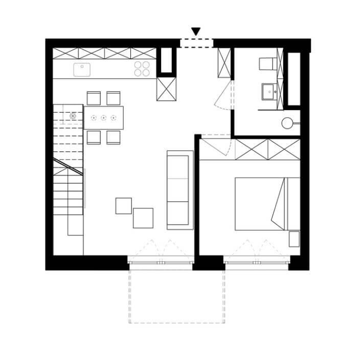 Apartment duplex 920 square foot - First floor
