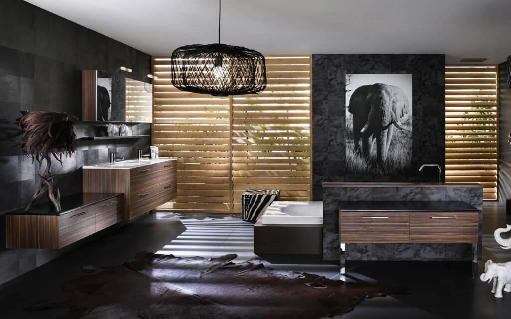 Bathroom decoration with natural color