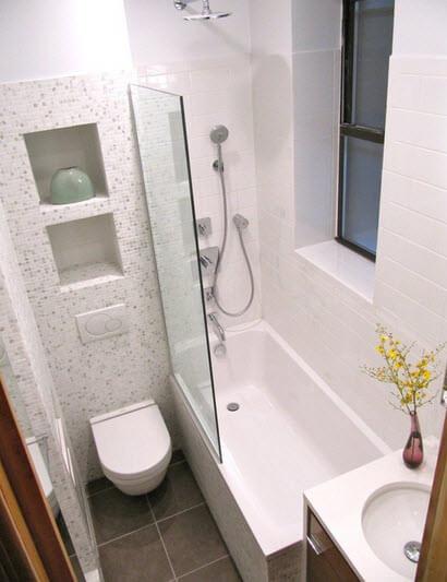 Bathroom design with openwork walls