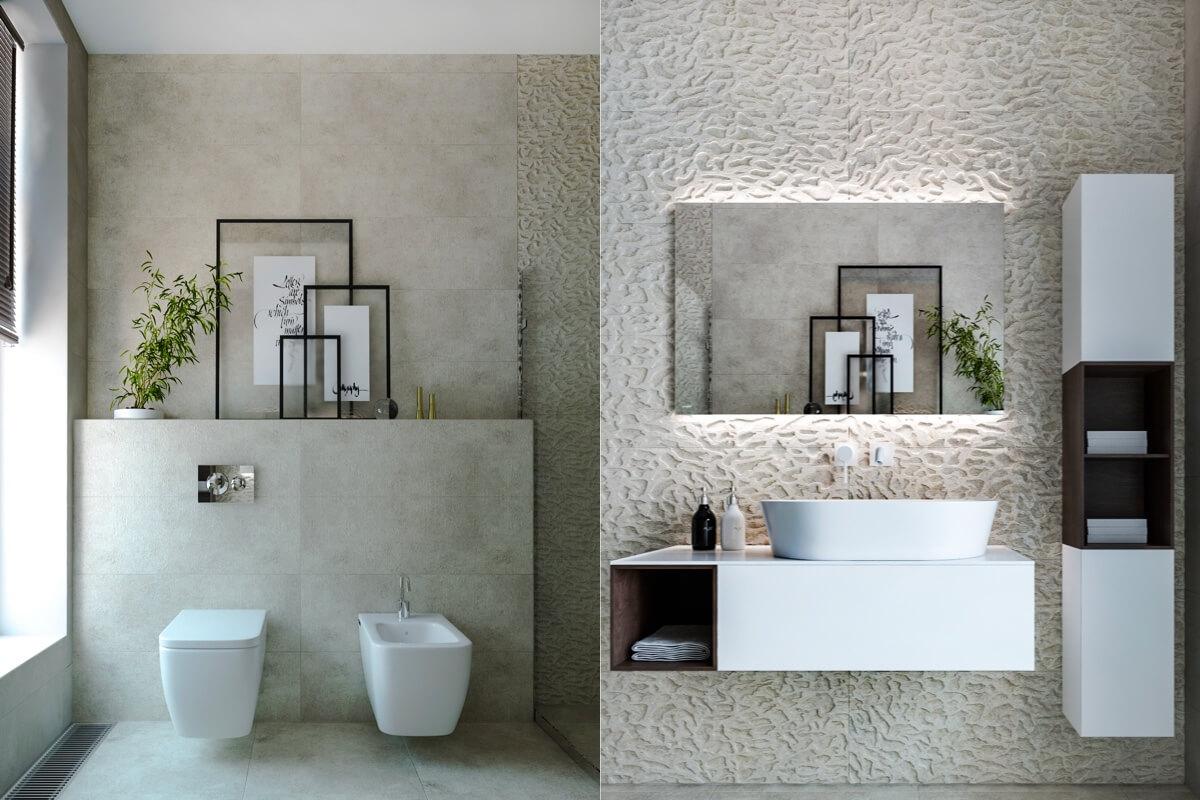 Bathroom walls decoration
