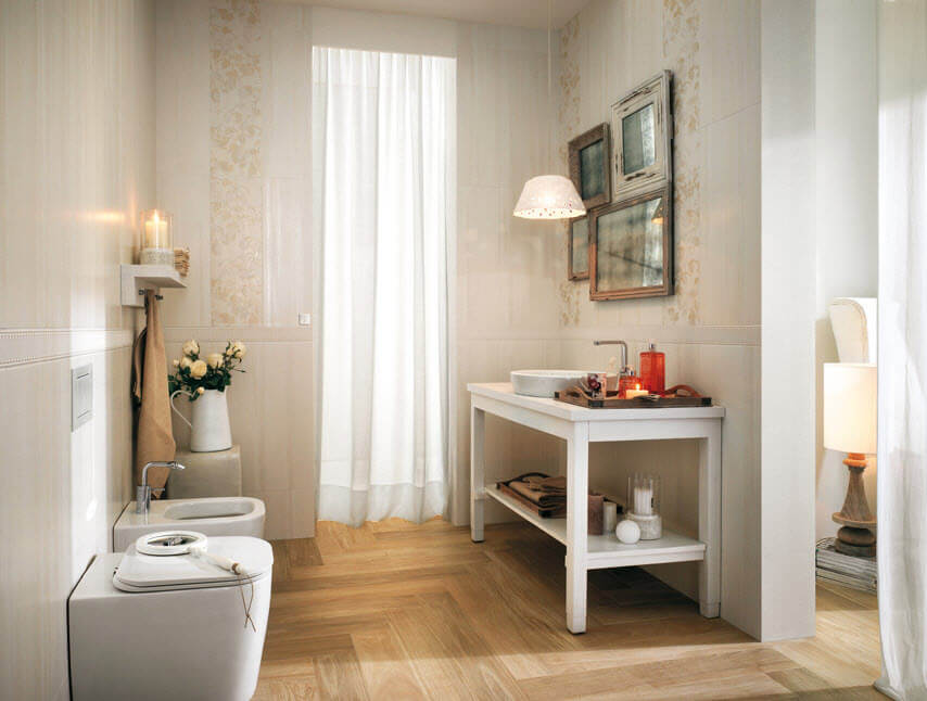 Bathroom with classic ceramic design