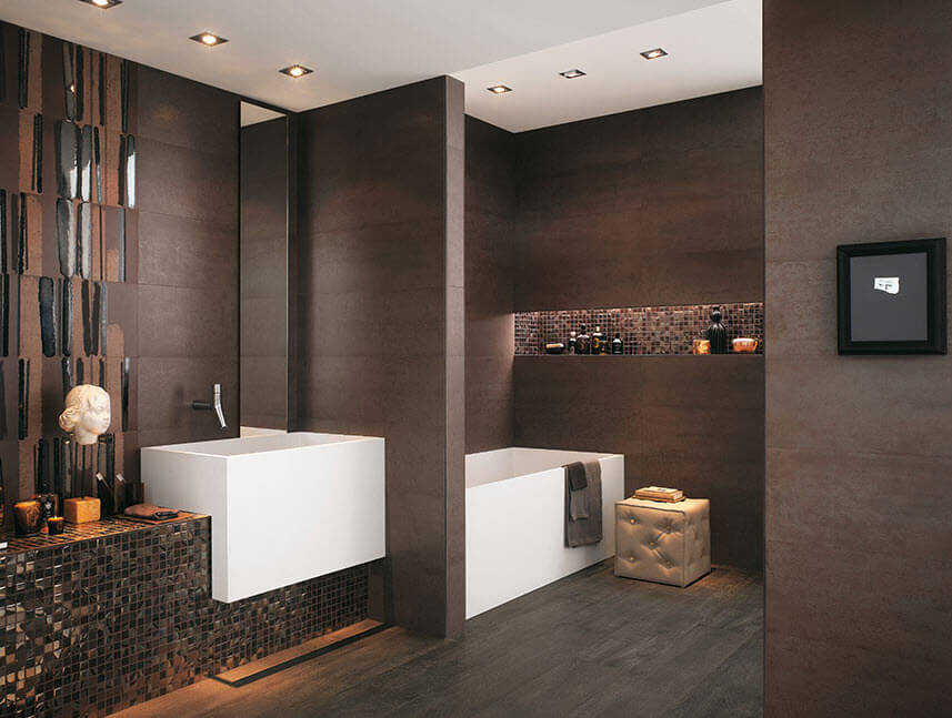 Brown ceramic bathroom