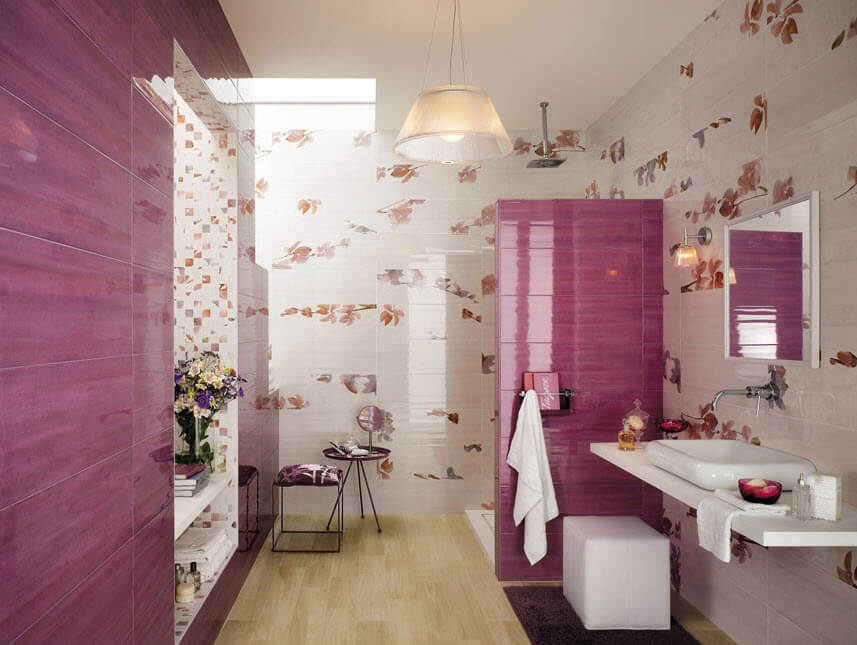 Ceramic bathroom design for ladies