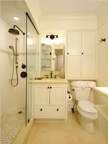 Cream color bathroom design