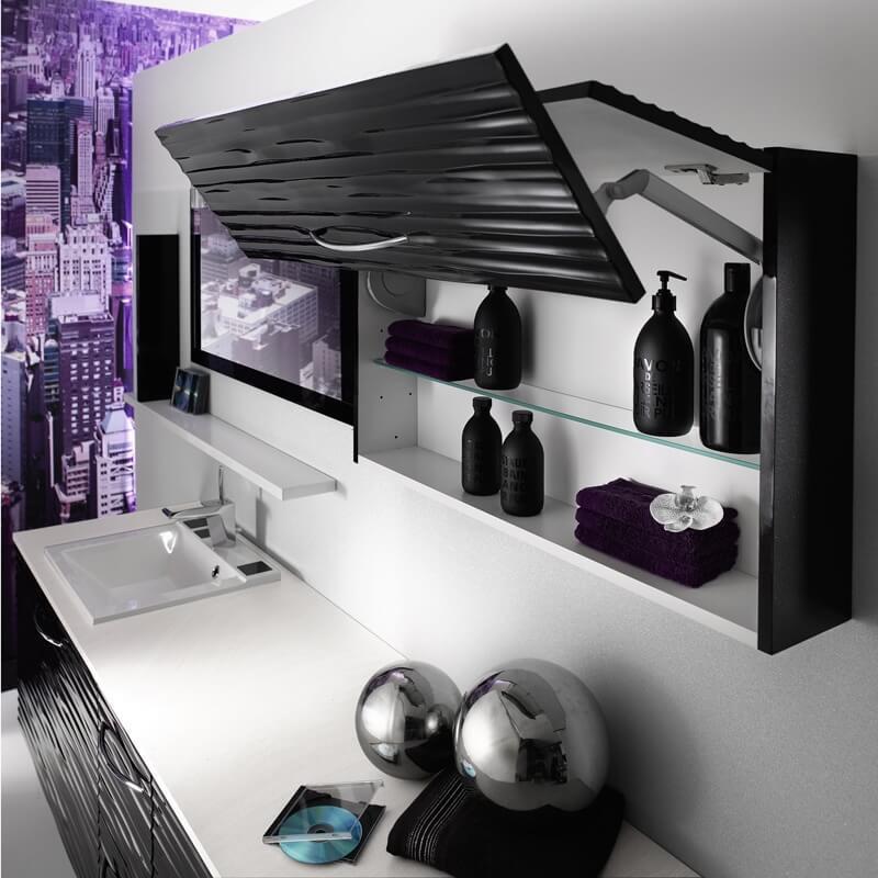 Design of shelf for bathroom