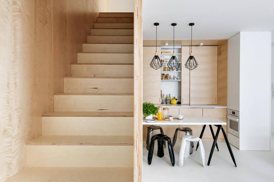 Duplex apartment wooden design