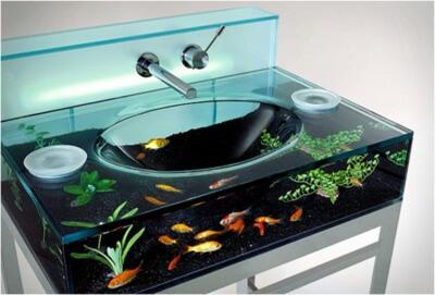 Fishbowl glass sink design