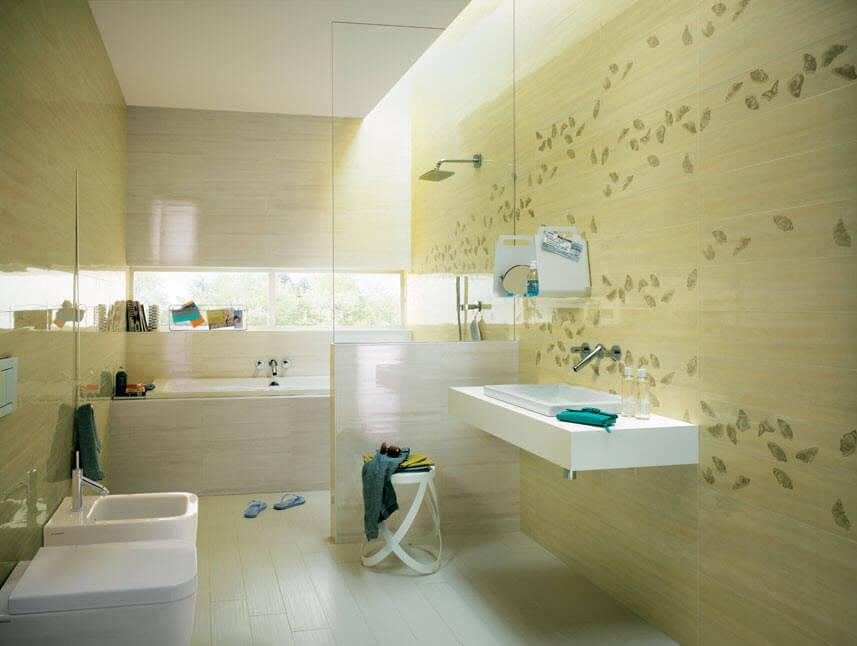 Green ceramic bathroom design
