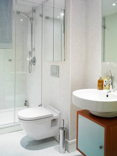 Linear design of a bathroom
