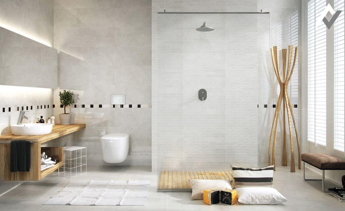 Minimalist bathroom decoration