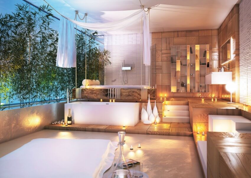 Modern and special bathroom decoration to relax