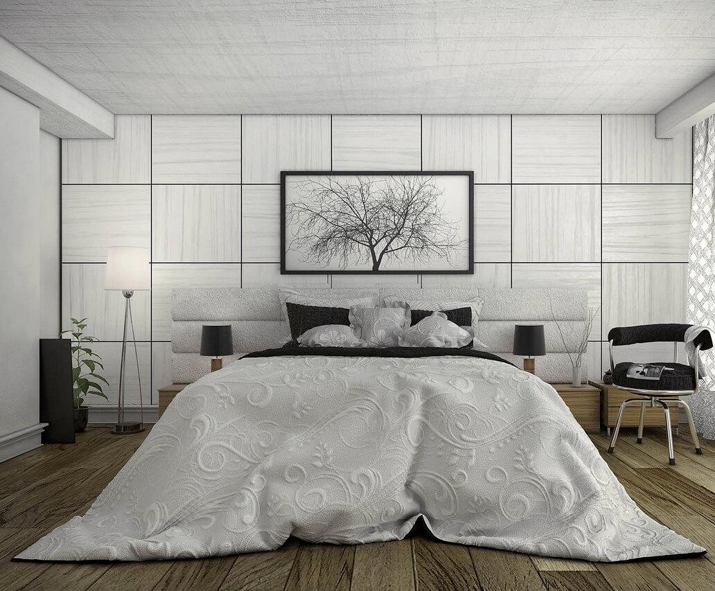 Modern bedroom design inspired by nature