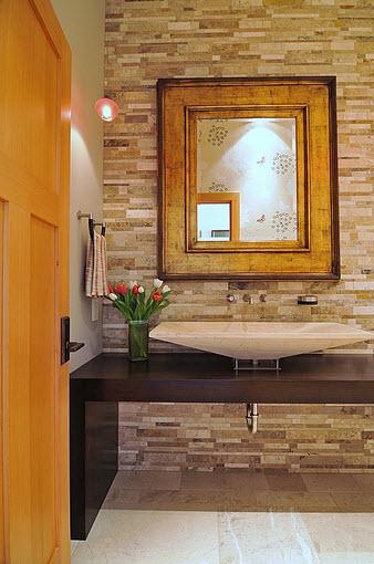 Modern design bathroom with washbasin