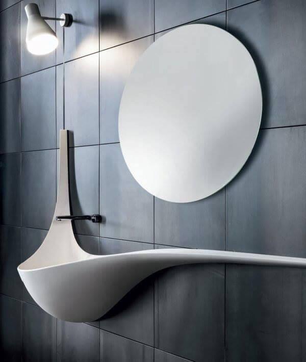 Modern elongated lavatory design