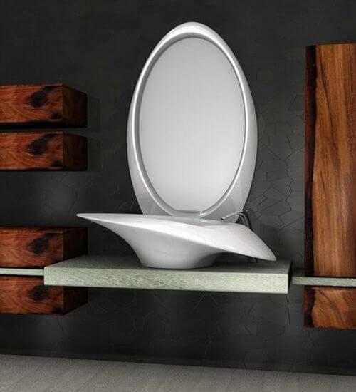Modern white lavatory design