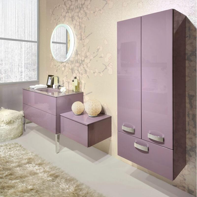 Pink furniture for bathroom design