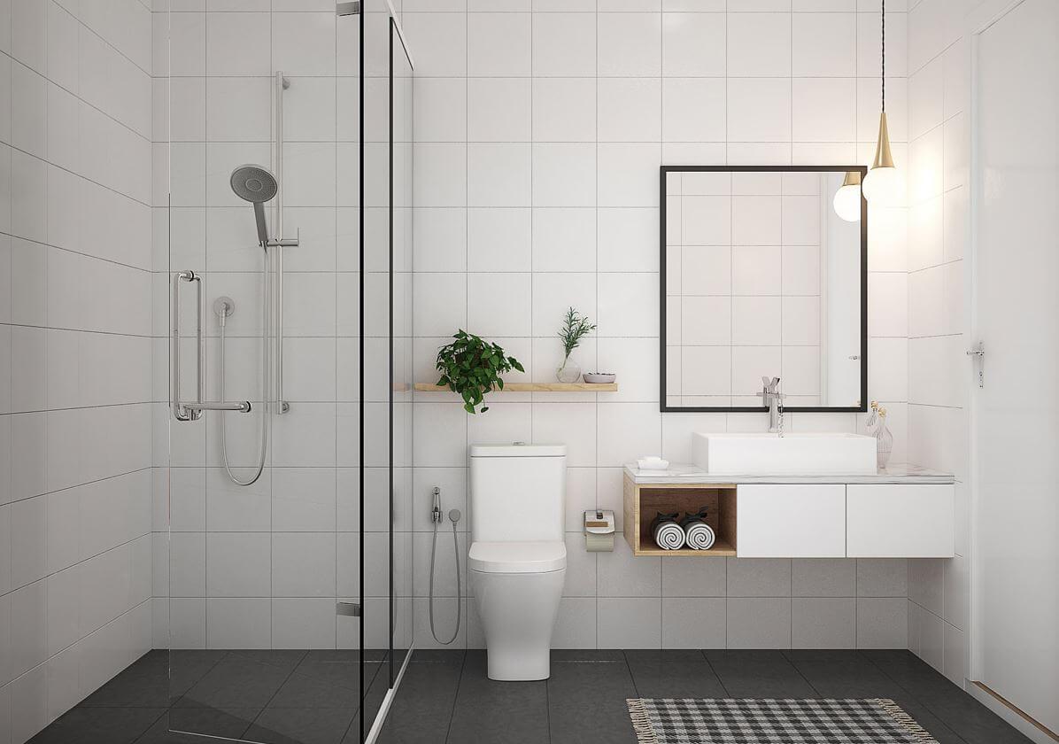 Simple design minimalist bathroom