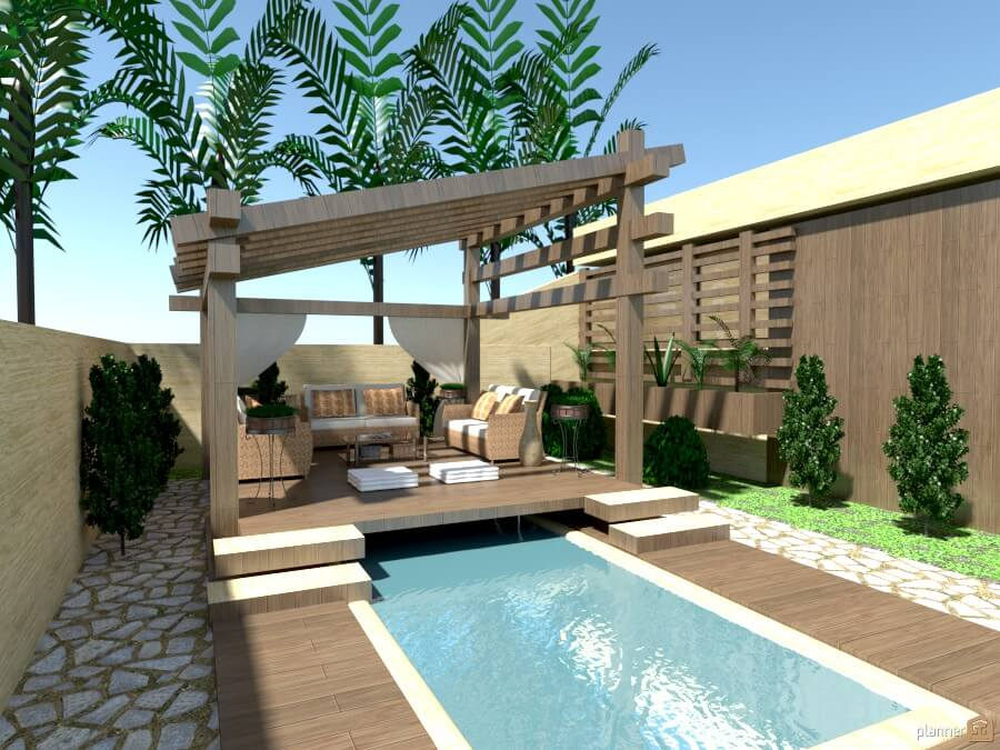 Terrace design created with a free application