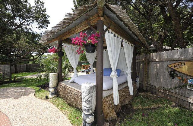 Tropical terrace decoration