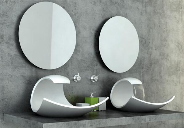 White modern washbasin design