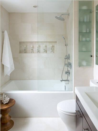 bathroom with openwork walls design