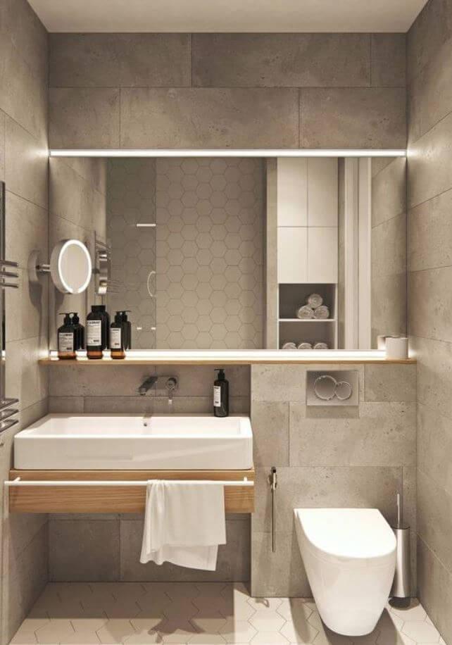 concrete blocks wall in bathroom
