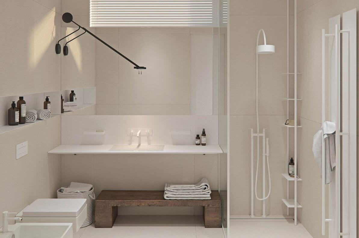 modern and rustic bathroom style