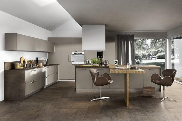 Brown kitchen design