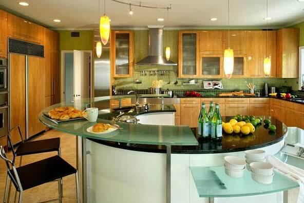 Circular island for kitchen
