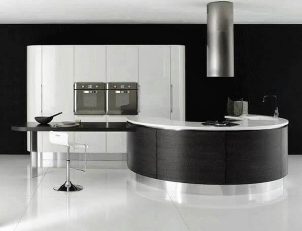 Circular metal kitchen bar design
