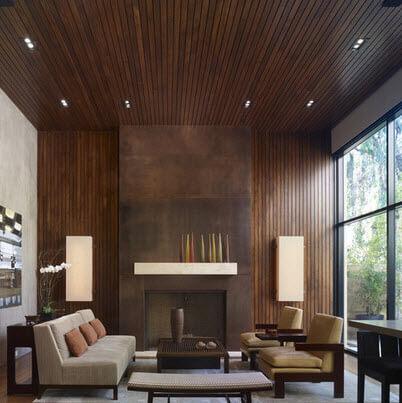 Classic style veneered living room