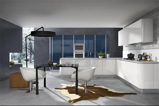 Contemporary kitchen design white furniture