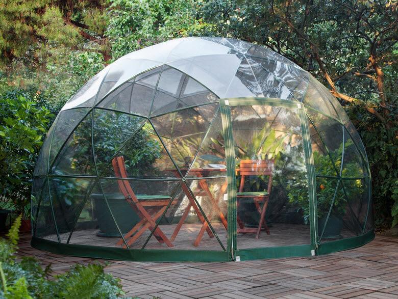 Dome design for garden or terrace