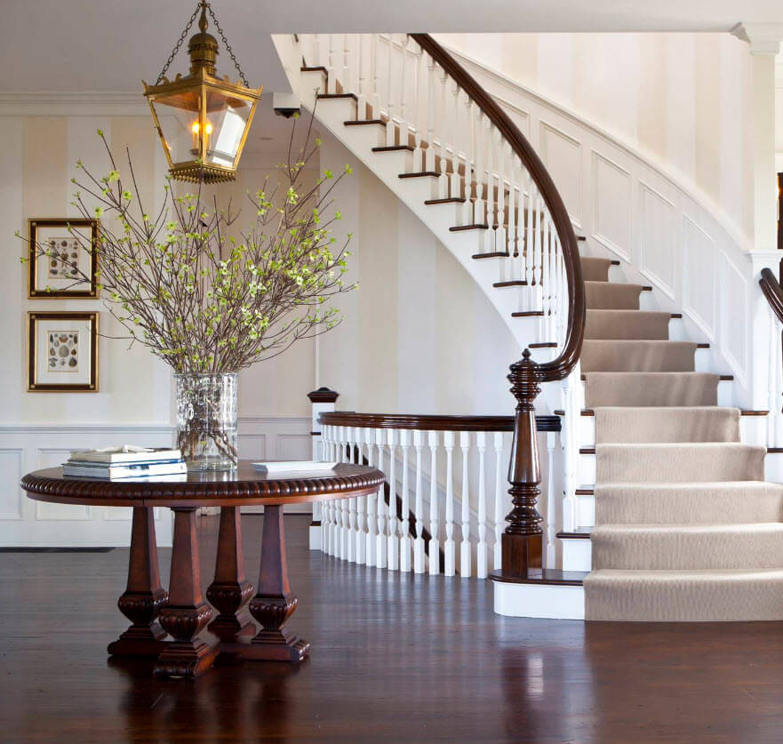 Elegant oval staircase design