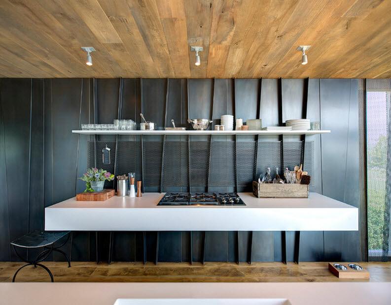 Floating kitchen design