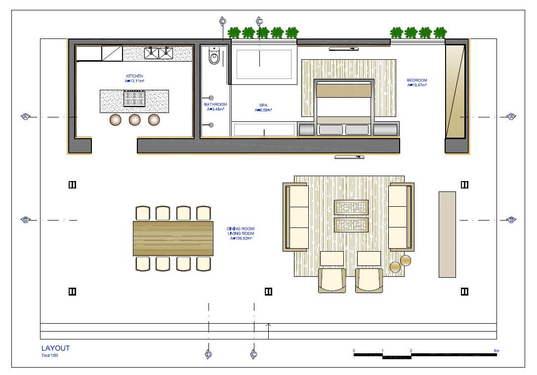 Floor plan of a small house