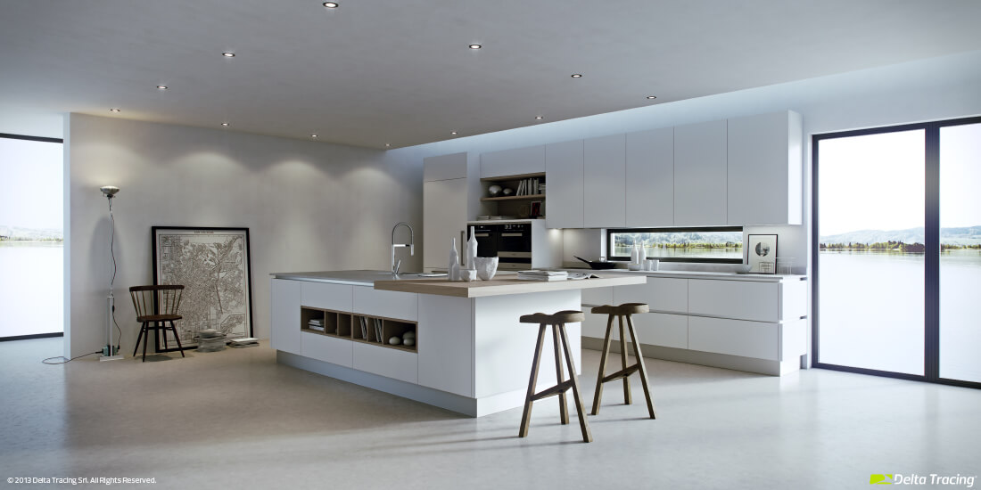 Interior design kitchen lighting