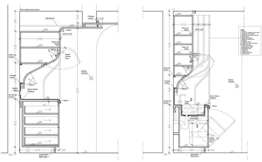 Kitchen cabinets plan