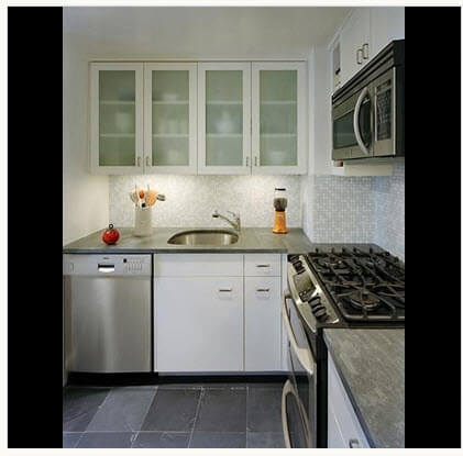 Kitchen design with artificial lighting