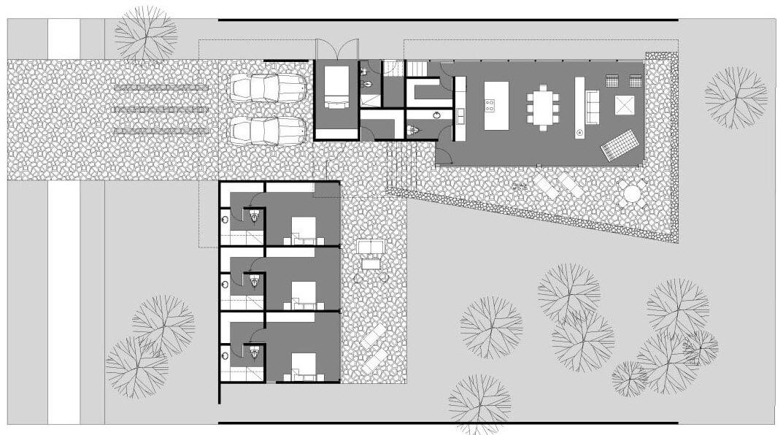 L-shaped floor house plans
