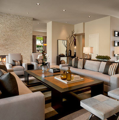 Large furniture in large room