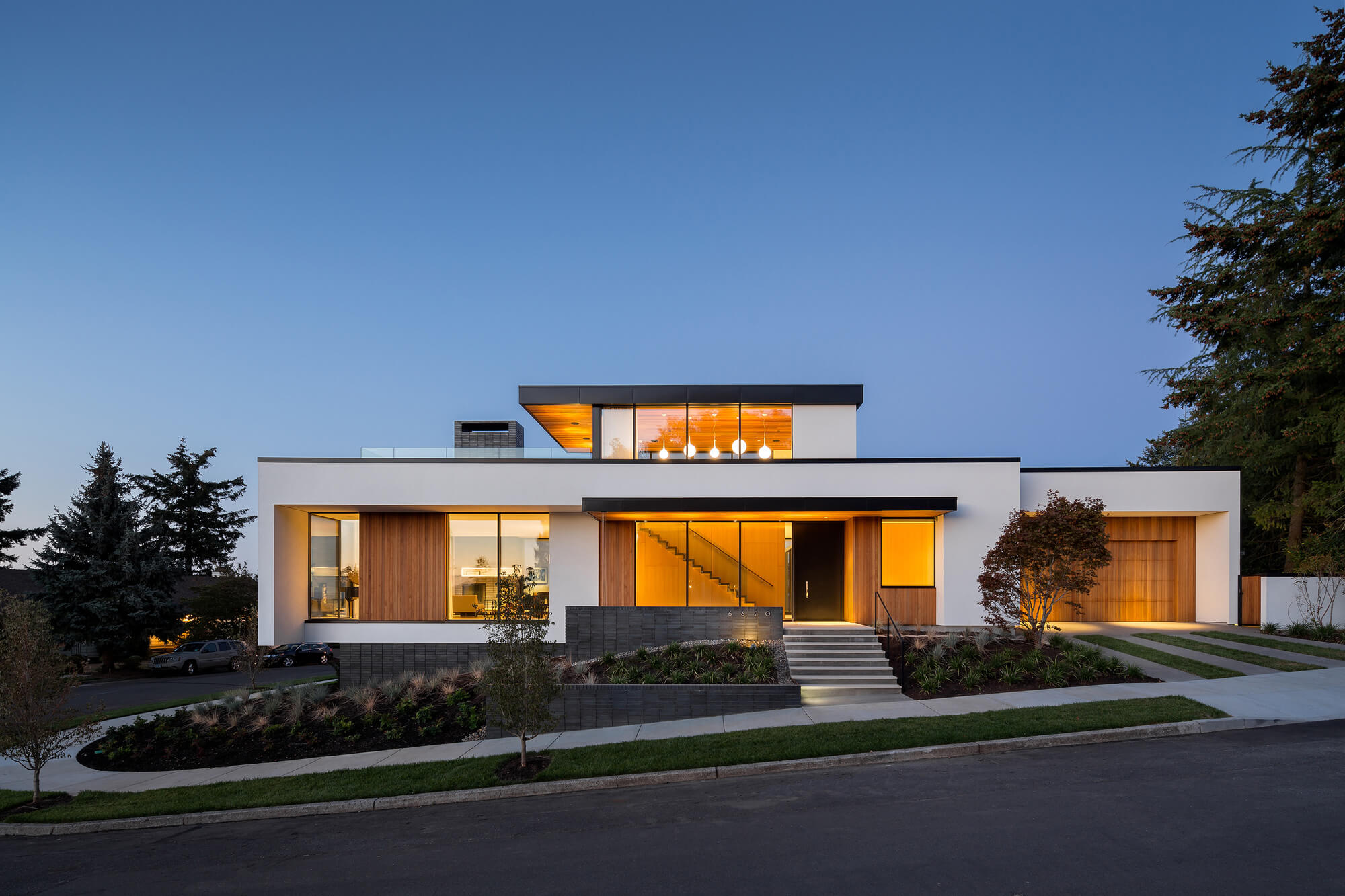 Large modern house facade