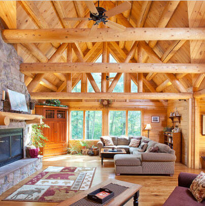 Living room rustic style in the countryside