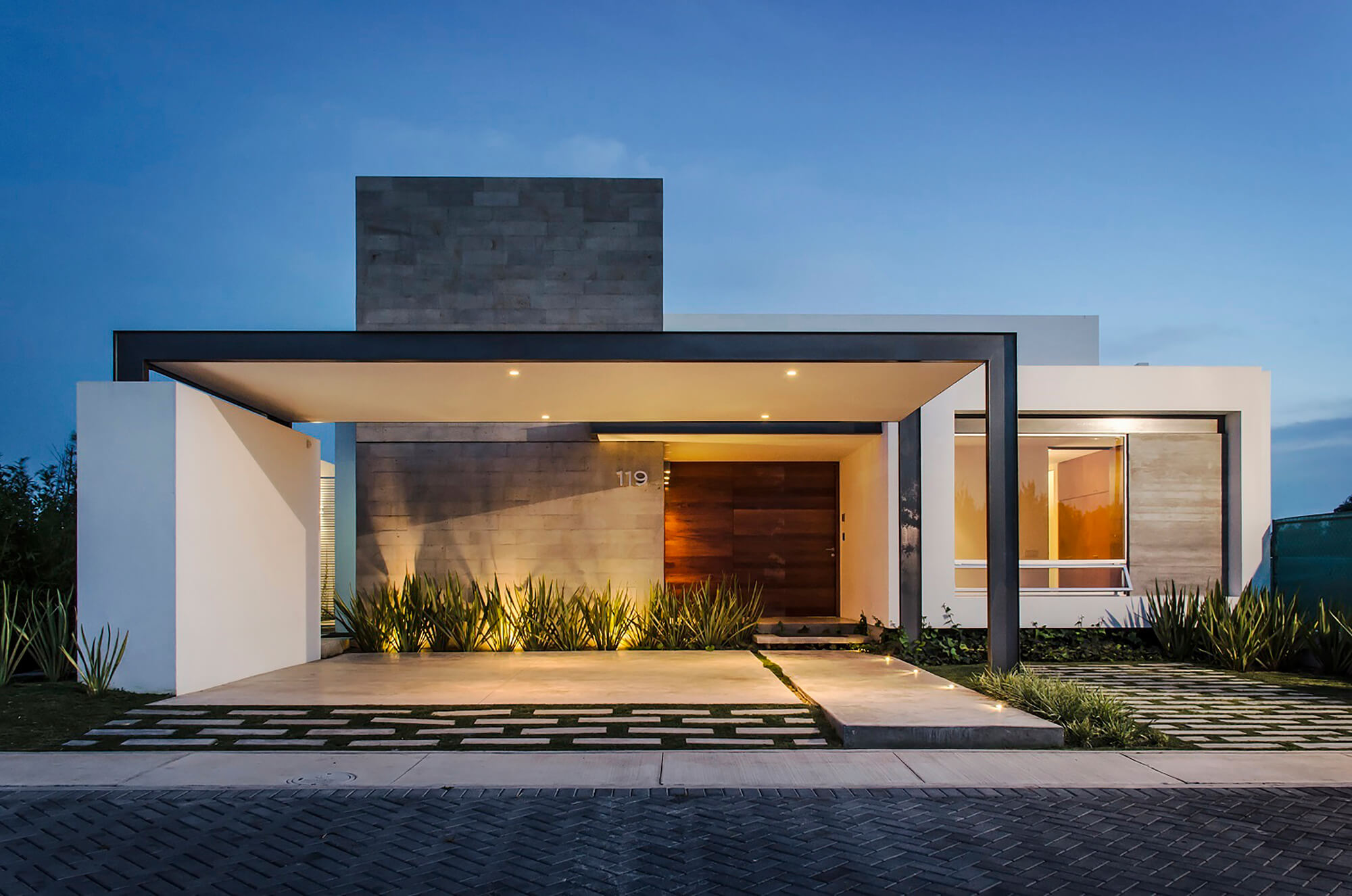 Modern house one story floor