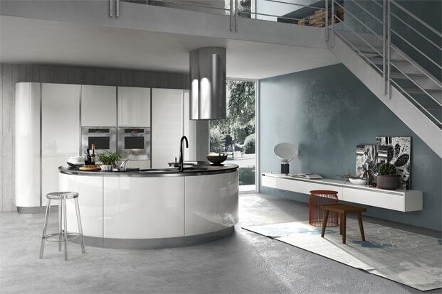 Modern kitchen design white furniture