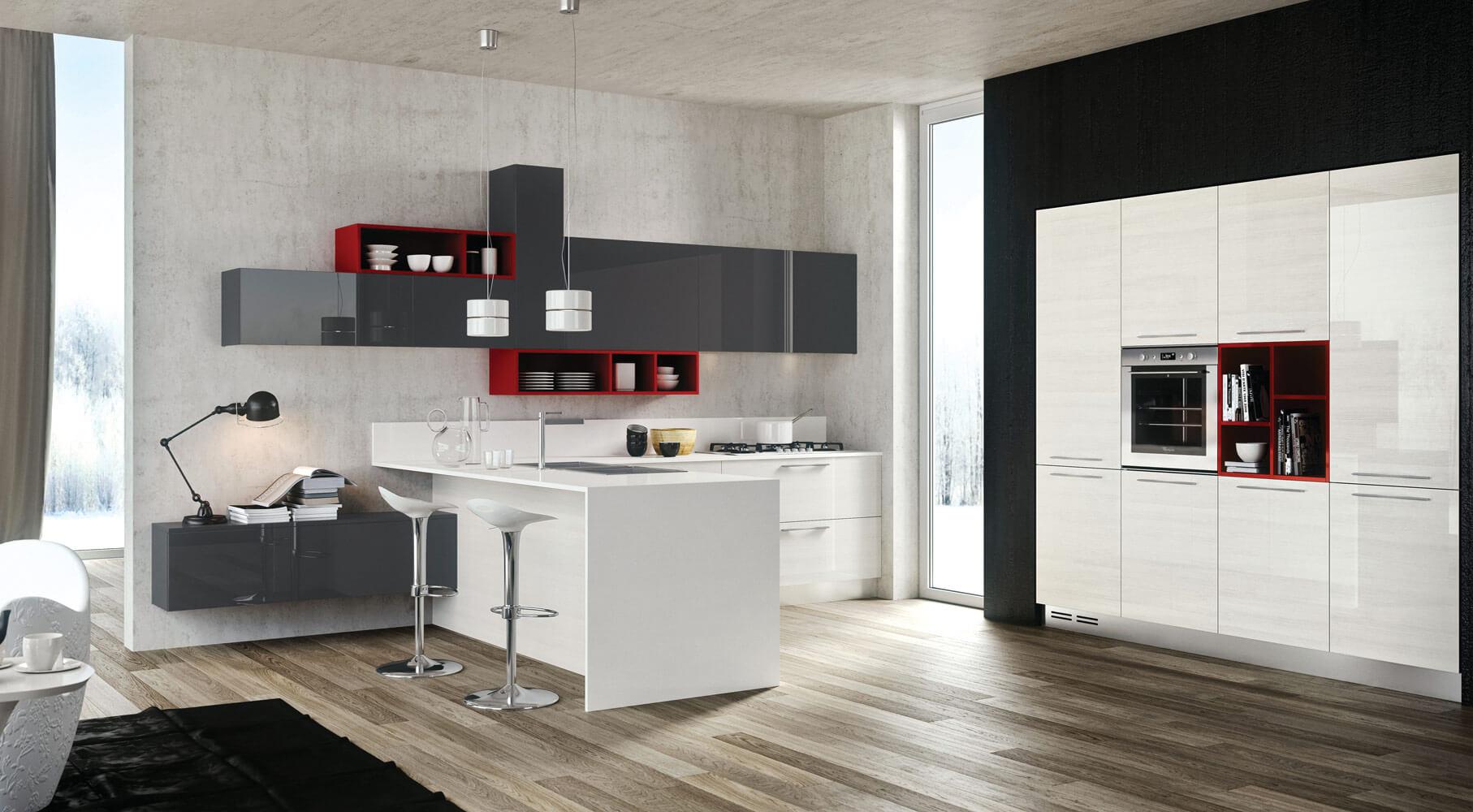 Modern kitchen design with popular style