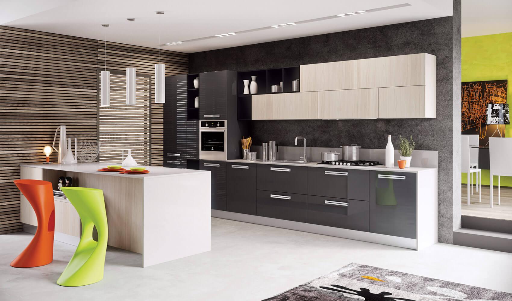 Modern kitchen pop art style design