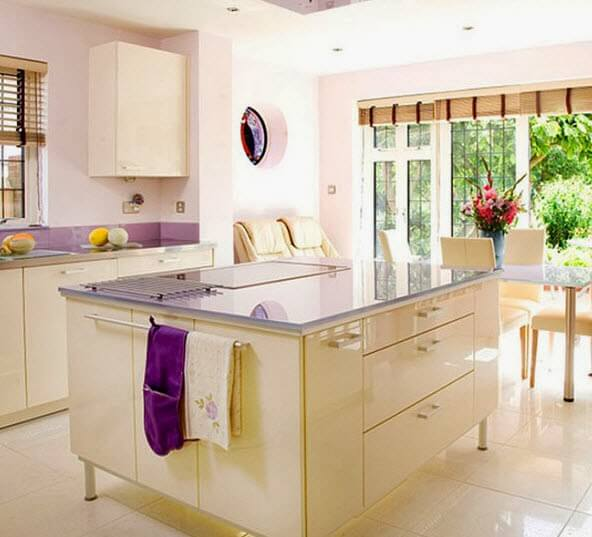 Modern square island for kitchen