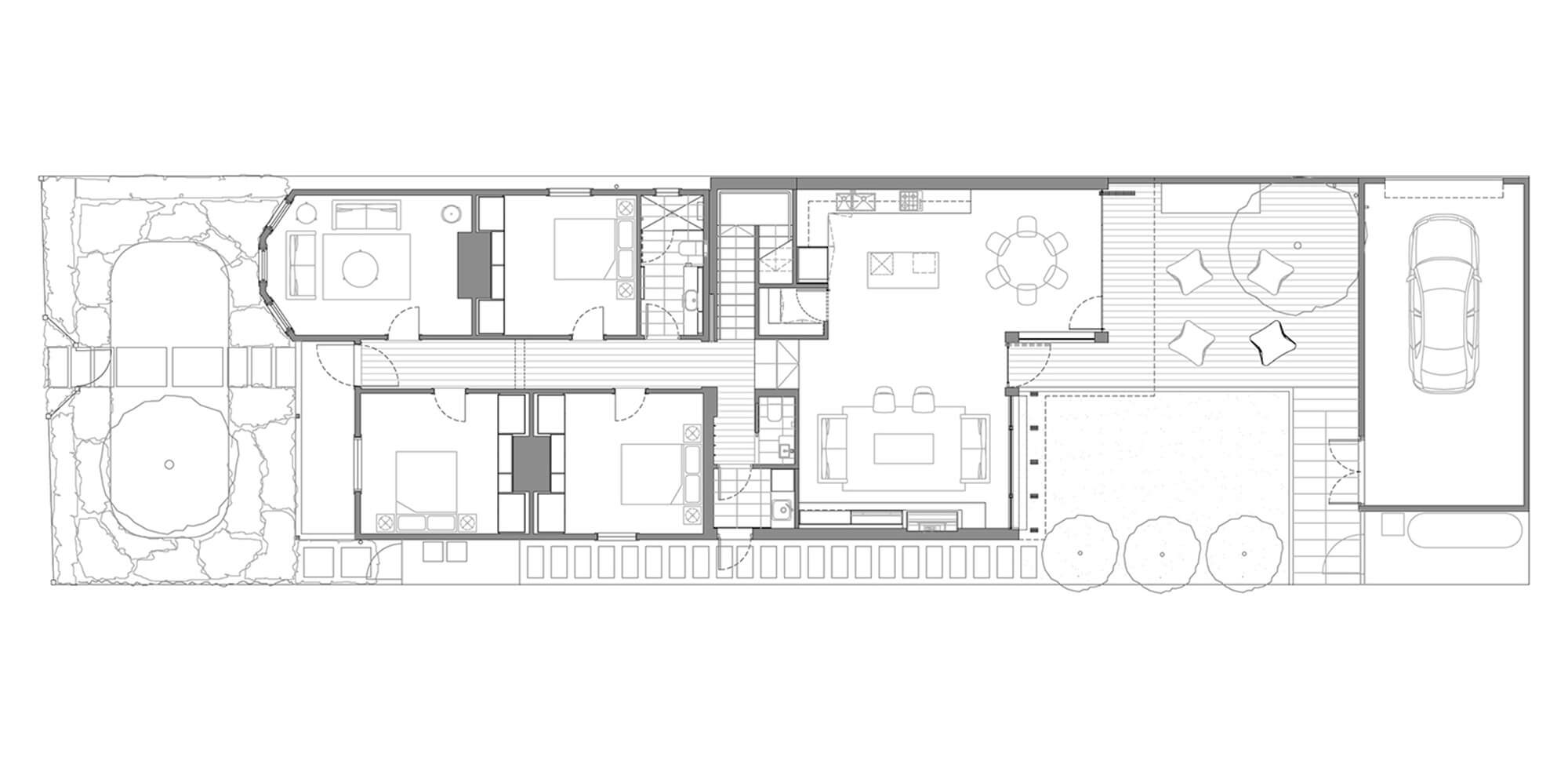 One floor house first floor plan