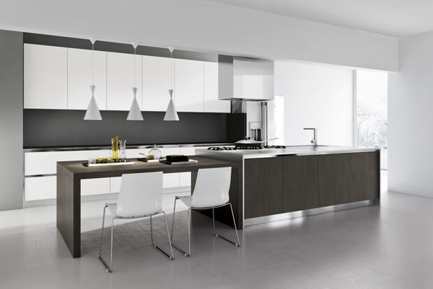 Simple and elegant modern kitchen design